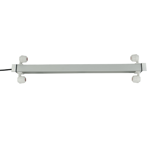 Aluminium retro-fit fixture with electronic ballast