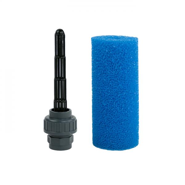 Filter-Schlitzrohr fein mit 32mm-Verschraubung mit Schwamm
