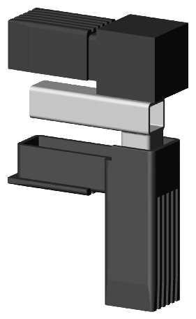 Alu-Stecksystem - Winkel 90°