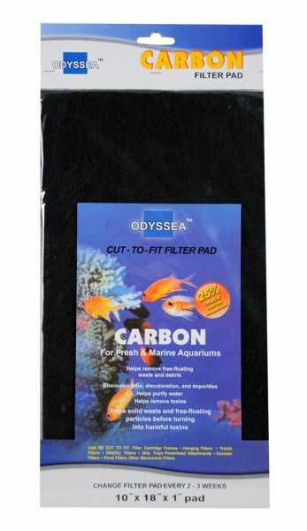 Filter media Carbon(Black) 25.5x45.7x2.5cm
