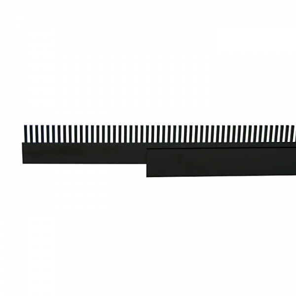 Plastic overflow comb + pouch per meter