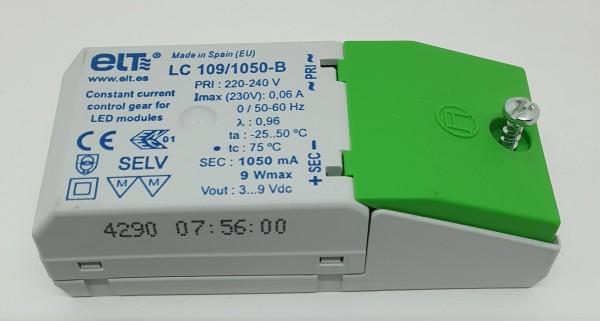 LED Driver DC3-9V / 1050mA / max.9Watt