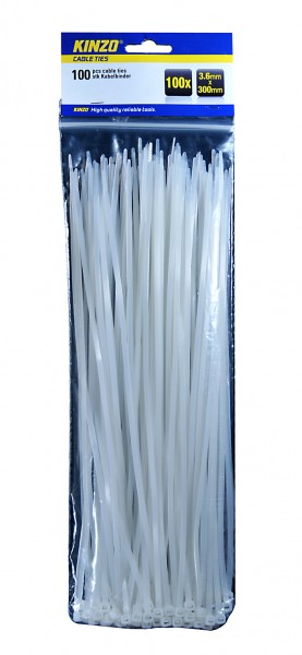 Kabelbinder/cable ties, Nylon 2,5x100mm - 100er-Pack