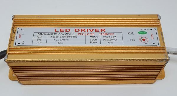 LED Driver DC20-38V / 2100mA / for 70Watt