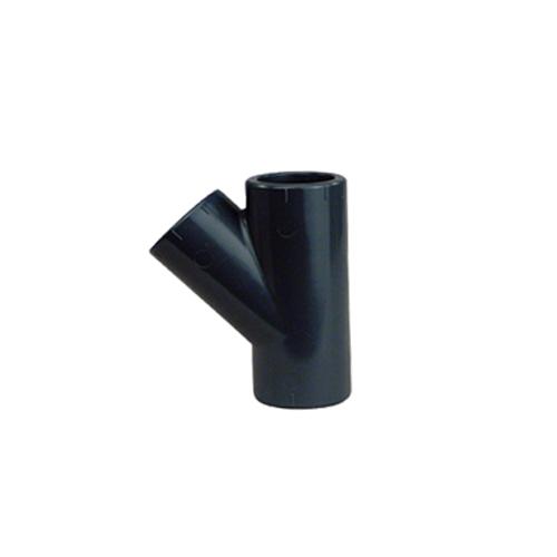 PVC-T-Stück 45°