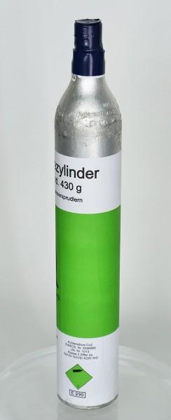 CO2-Flasche 430g für Sodastream und gängige Trinkwassersprudler