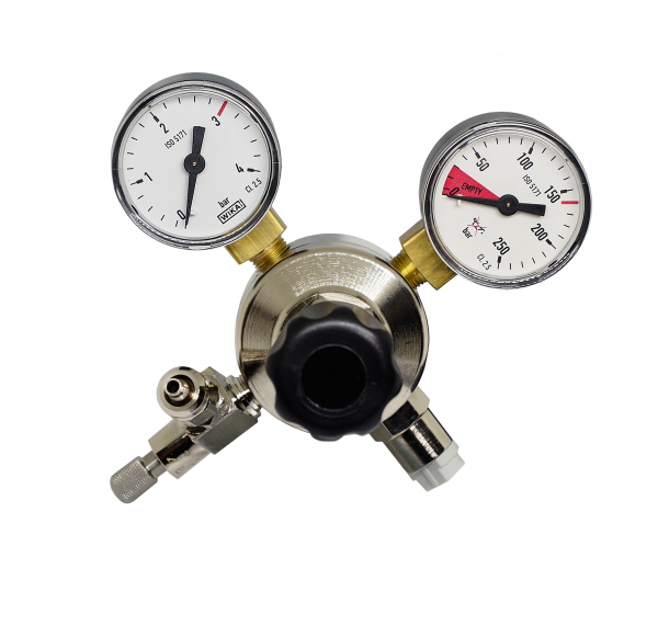 CO2-Druckminderer Y-Model 2 Manometer +Dosierventil