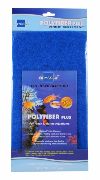 Filter media PolyFiber Plus (blue) 25.5x45.7x2.5cm