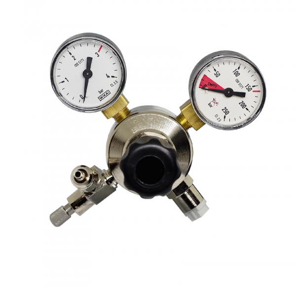 CO2 Pressure regulator Y-Model with 2 manometers and needle valve