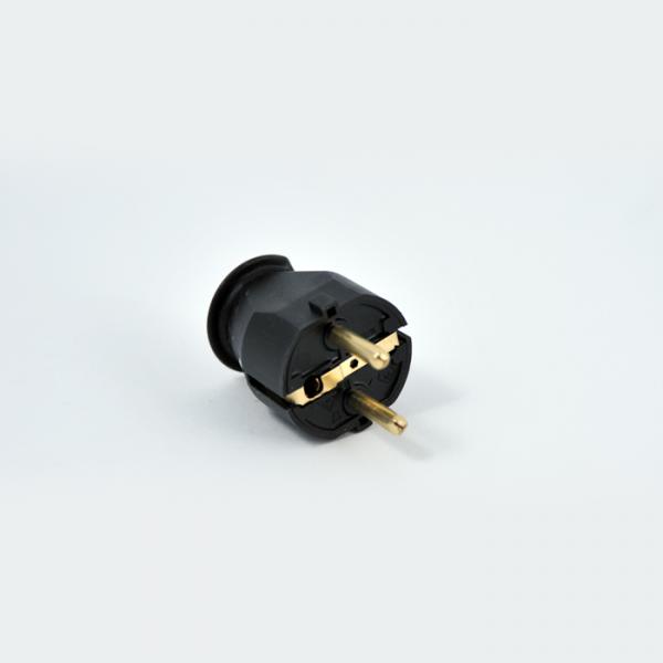 Schutzkontakt-Stecker Selbstmontage 3-adrig schwarz
