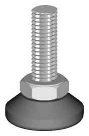 Alu-Stecksystem - Schraubfuß höhenverstellbar - 25mm