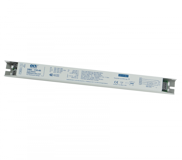 ballast T5, T8, TC-L/F dimmable 1-10Volt 1x18/24/25/30/36/39/40Watt