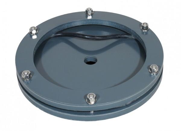 PVC-Kopf-Teil für Rohr Ø 200mm mit O-Ring + 6xEdelstahlschrauben